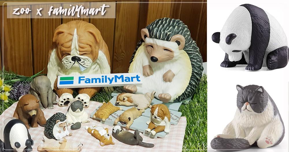 扭蛋控注意!「全家」新推出超軟萌「休眠動物園」辦公室小物,要被刺蝟存錢筒、熊貓手機座可愛死了啦♡