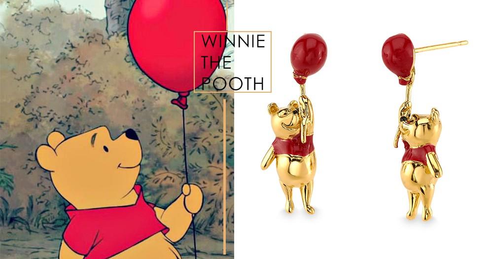 小熊維尼閃耀耳環、項鍊!小短手配紅氣球真的萌出新宇宙~就算不是維尼粉也會瘋狂啊