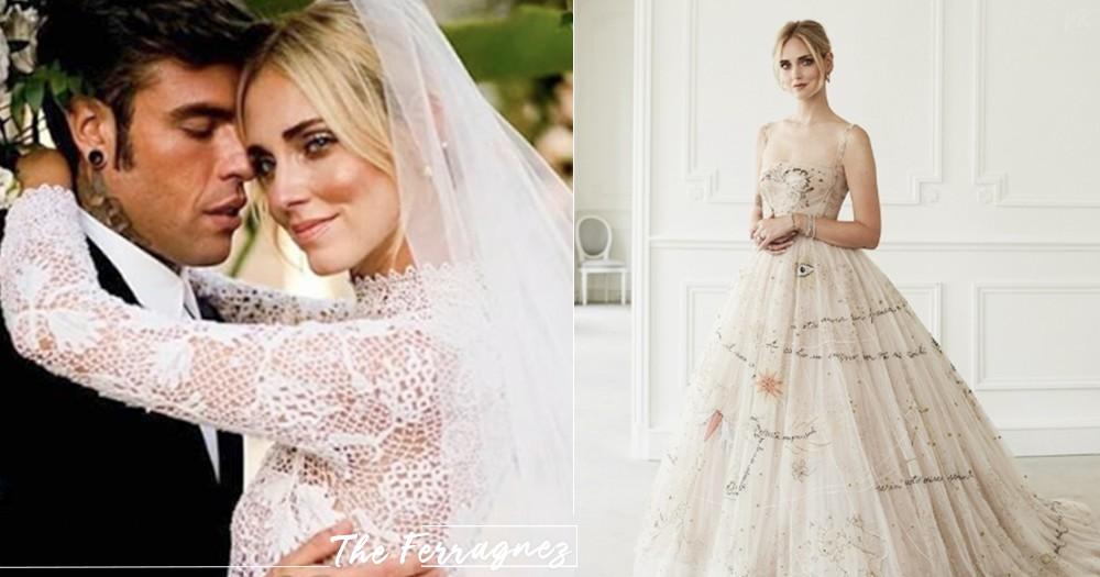 包下飛機、蓋摩天輪招待閨蜜!「鑽石級網紅」Chiara Ferragni結婚~超夢幻Dior婚紗、芭蕾舞裙打造公主婚禮♡