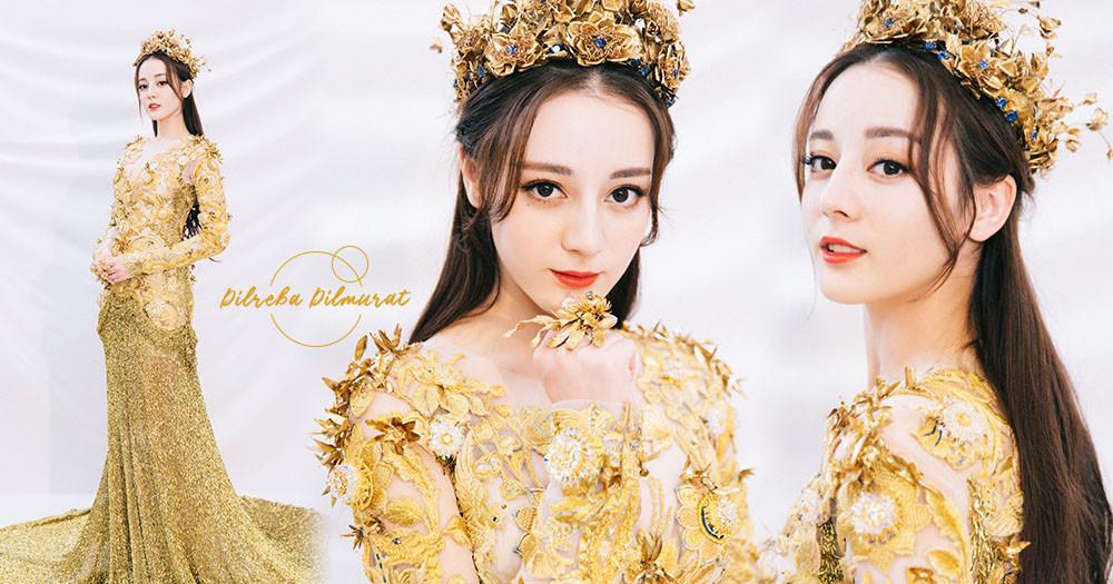 真人版公主!迪麗熱巴「2018金鷹女神」禮服美出新高度~網驚:最仙沒有之一♡