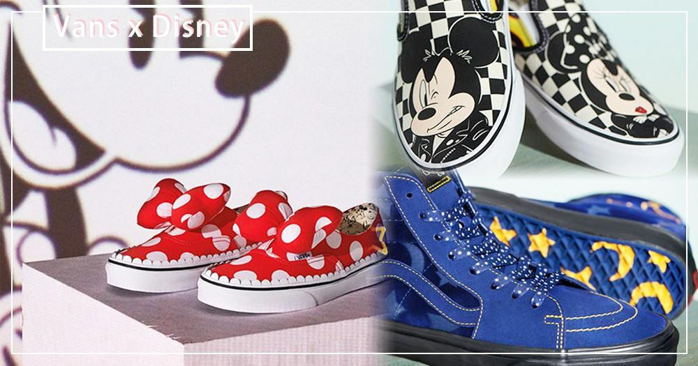 又是米奇90週年!Vans和Disney攜手合作~好想要那雙米奇的《魔法師學徒》星空鞋♡