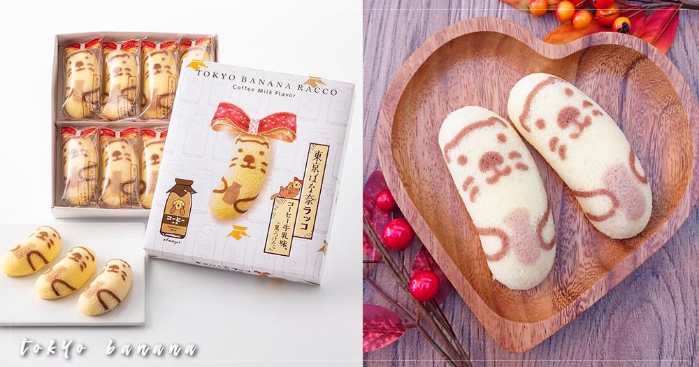秋冬限定!日本「東京芭娜娜Tokyo Banana」推出「水獺咖啡牛奶」新口味,印上這麼可愛的臉誰捨得吃啊~