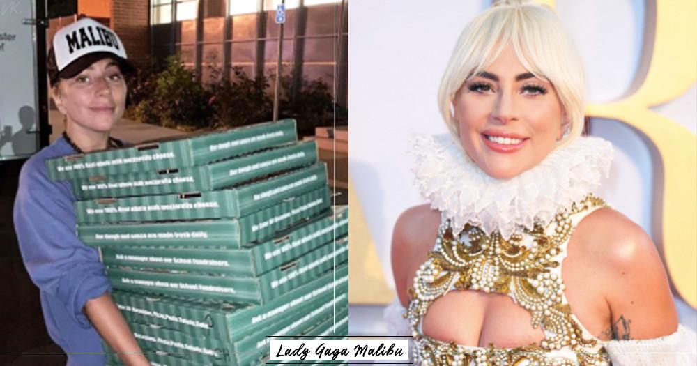 女神卡卡超有愛!加州森林大火Lady Gaga素顏「外送披薩」親上火線陪伴災民♡