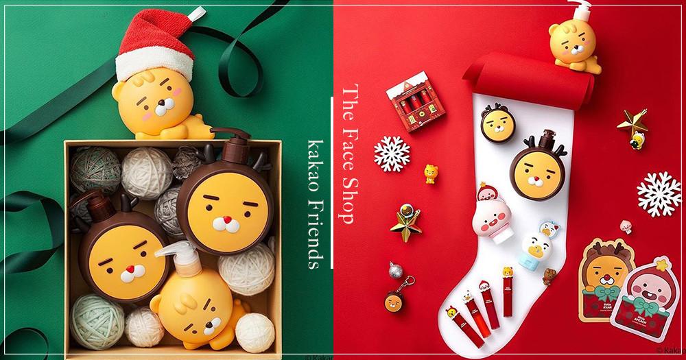 可愛指數破表!The Face Shop推出「Kakao Friends」聯名聖誕新品,「麋鹿萊恩」沐浴乳完全萌出新高度啦~