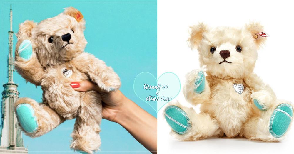 史上最犯規聯名!日本Tiffany&Co.推出超萌限量「白色泰迪熊」,蒂芬妮藍的手手跟腳腳也太可愛了吧♡