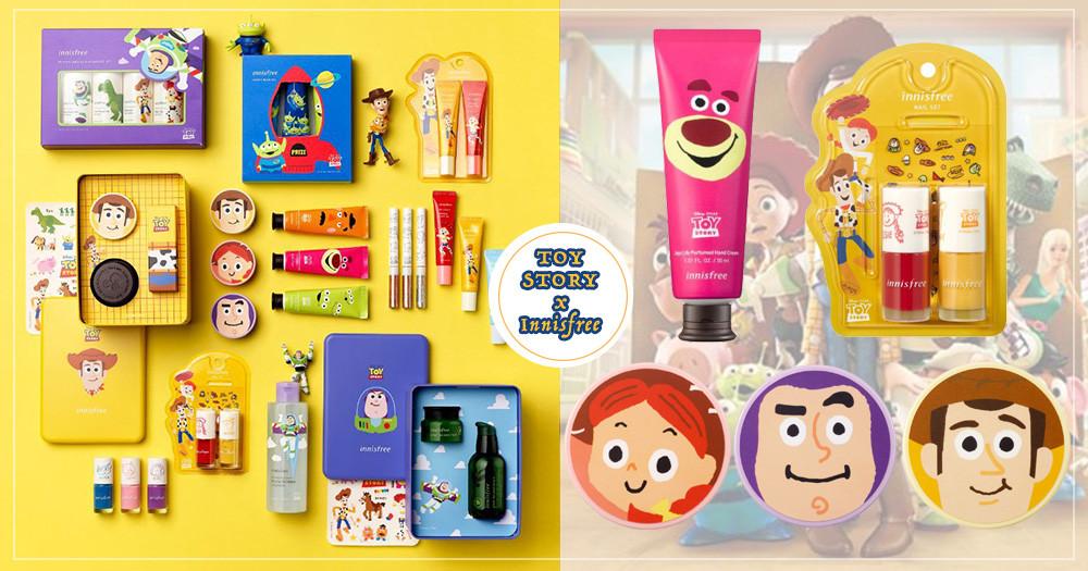 玩總迷請進!韓國Innisfree推出《玩具總動員》聯名款彩妝保養,好想買胡迪包裝的蜜粉啊~