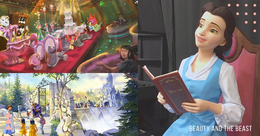 2020超夢幻東京迪士尼《美女與野獸》新園區曝光!真人版「貝兒」模型娃娃、搭「茶杯」回到童話故事中!