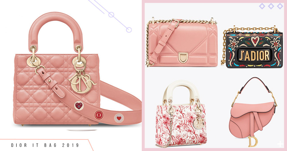 Dior春季手袋美得像仙女啊~5大熱門包款必GET!客製化粉桃色Miss Dior幸運徽章會選到失心瘋!