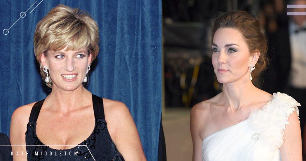 「黛妃的美,我們都記得」凱特王妃首次配戴黛妃珍珠鑽石耳環、被封如希臘女神,她這樣復刻了黛妃的美~