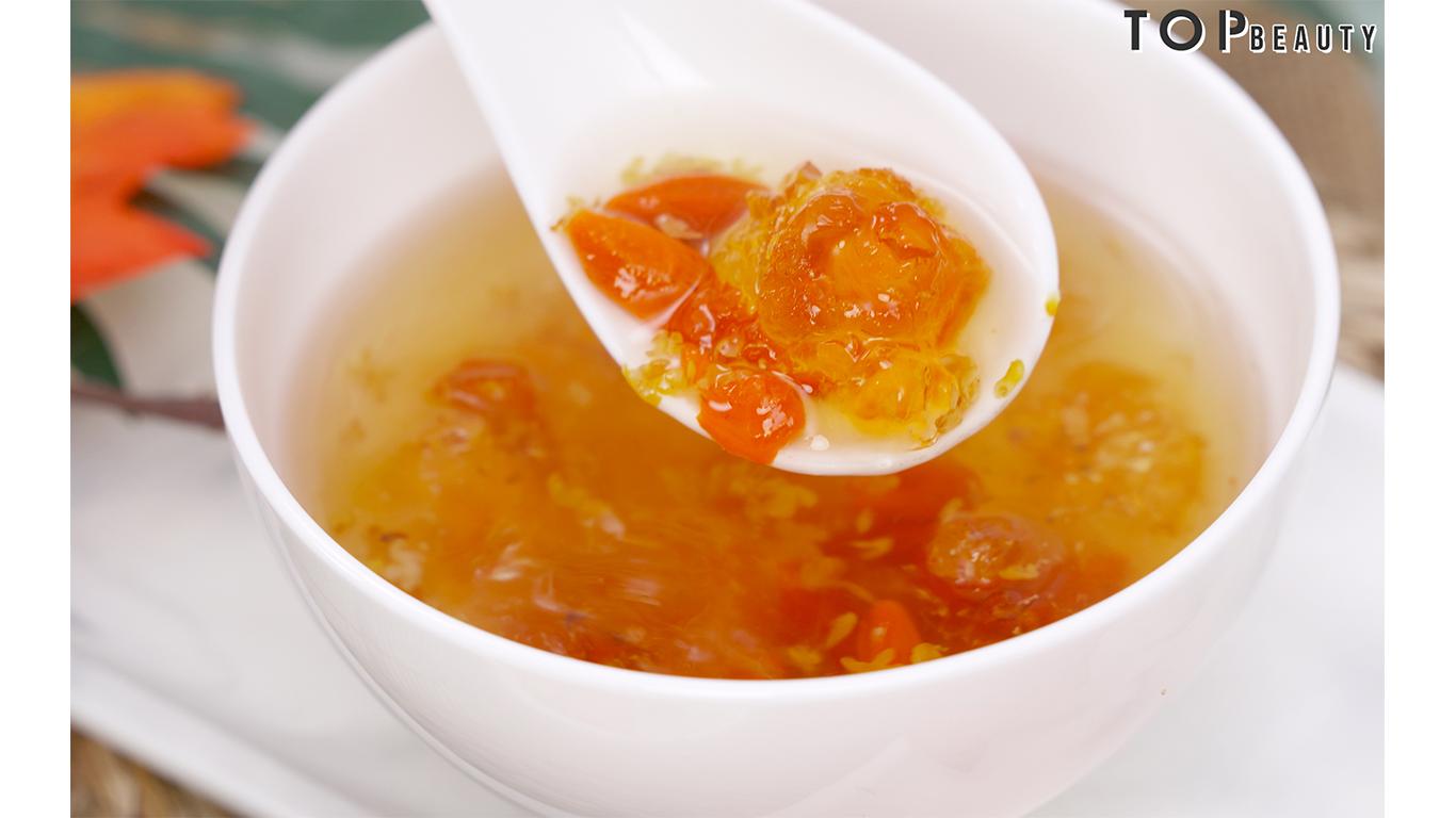 桃膠枸杞桂花蜜