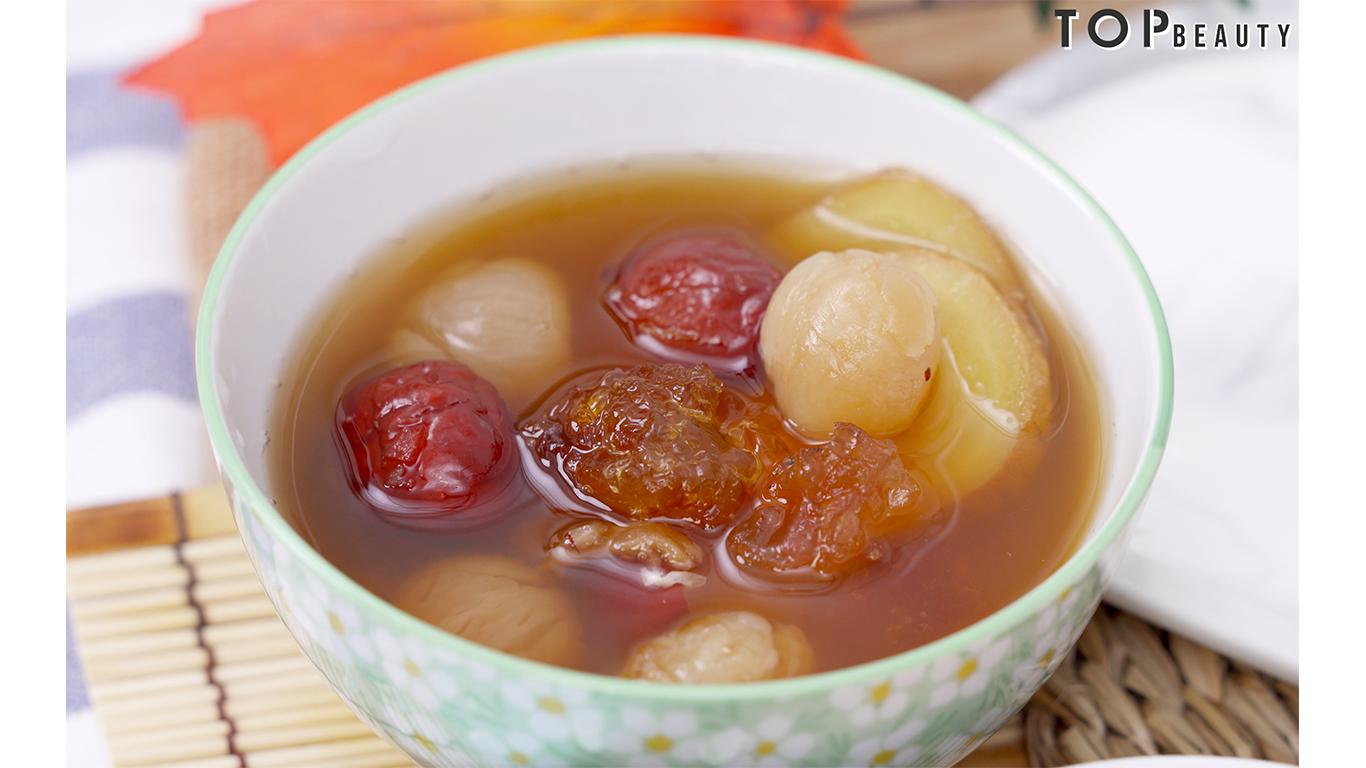 桃膠紅棗桂圓茶