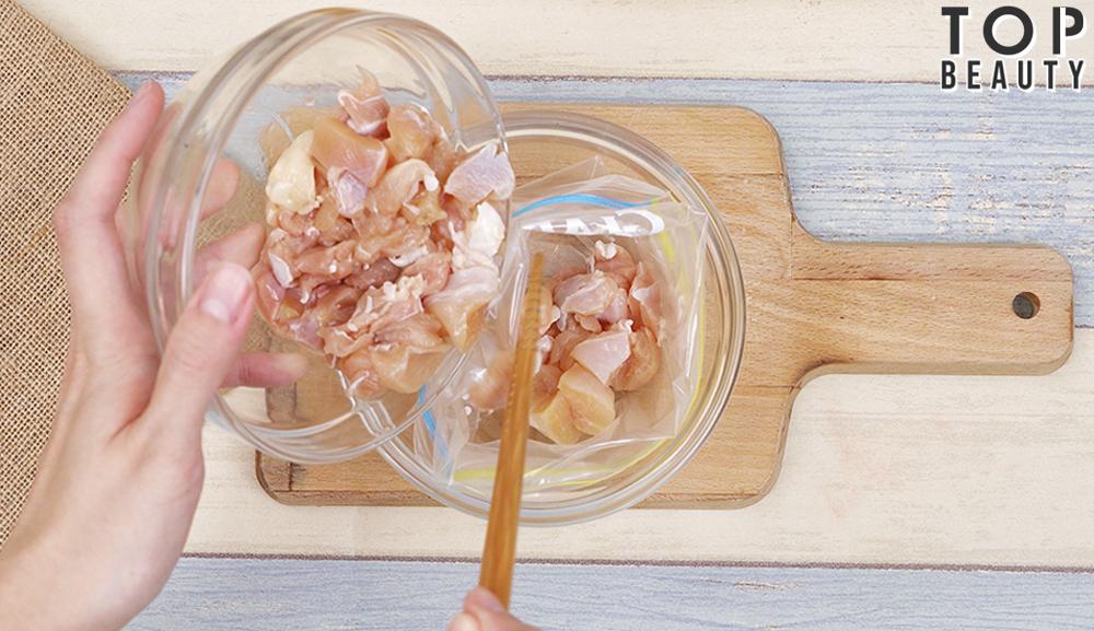 香菇麻油雞燴飯_醃雞肉
