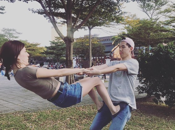 許瑋甯健身運動