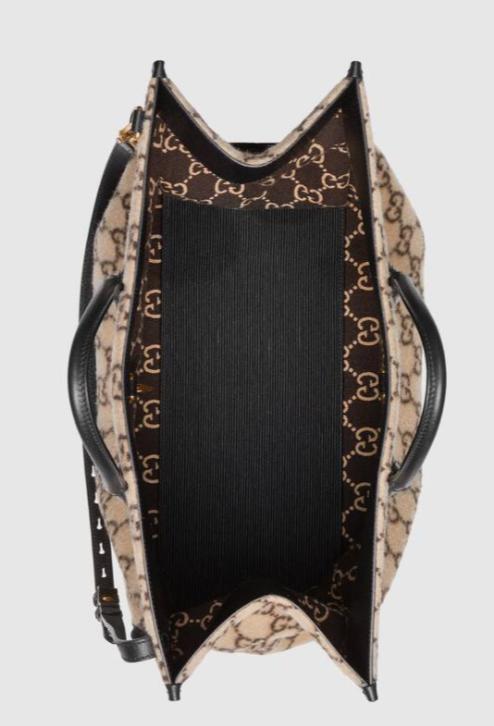Gucci「GG Logo Wool Tote」