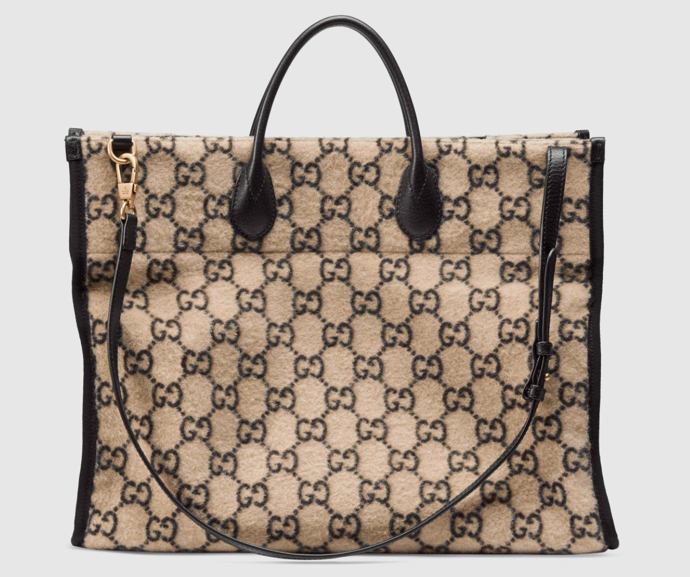 Gucci GG Logo Wool Tote