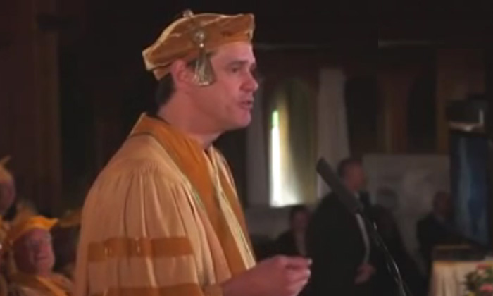 Jim Carrey commencement speech at Maharishi University of Managament