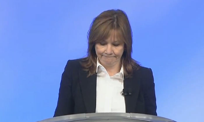 Mary Barra GM CEO global town hall to fire 15 workers for car recall