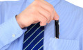businessman stealing pen in the office can lead to more serious crimes