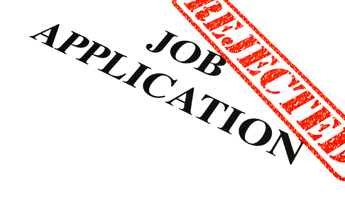 job application resume rejection stamp