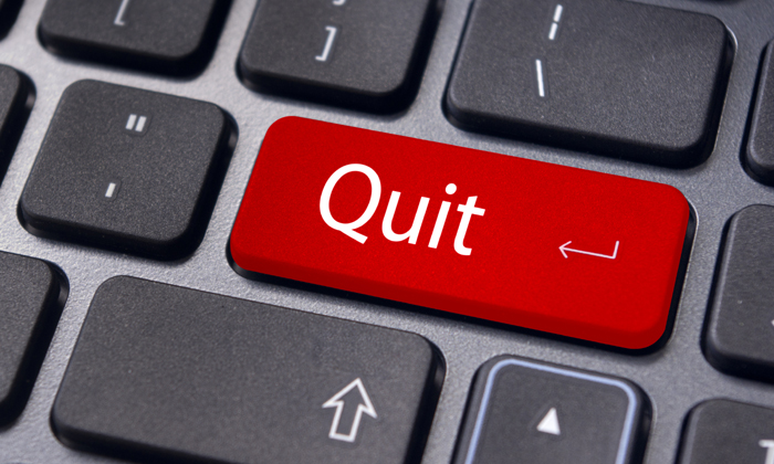 """Quit"" on keyboard"