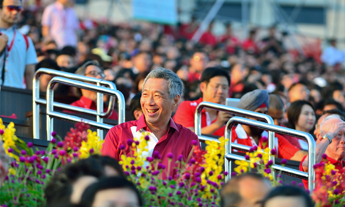 PM Lee Hsien Loong speaking at National Day