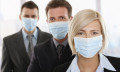 Businessmen in masks to show companies aren't prepared to deal with pandemics