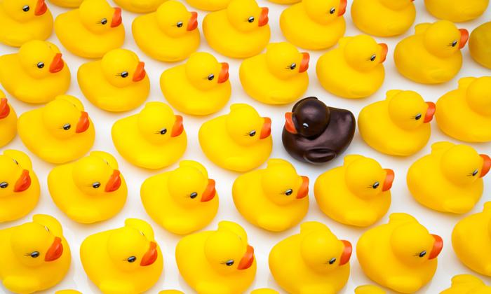 Rubber ducks discriminating