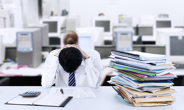 Stressed worker to show are Singaporeans working too hard?