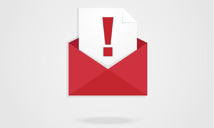 Bad email alert