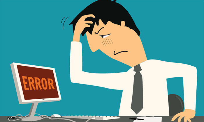 Error sign to show HR tech might be killing candidate experience