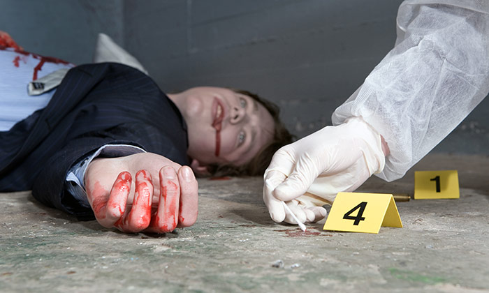 Scary jobs blood crime scene investigator