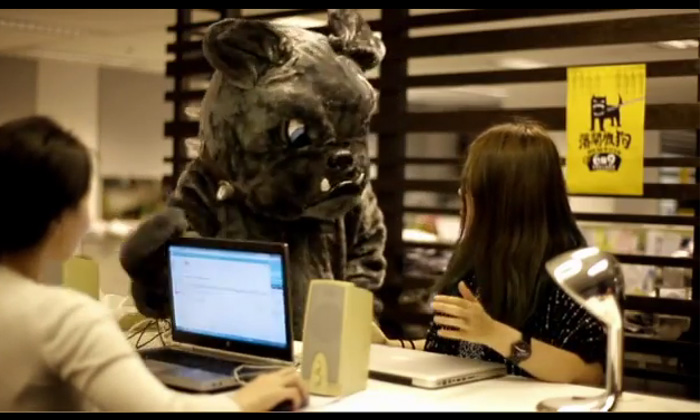Saatchi & Saatchi HK Bark You Up initiative, video screengrab
