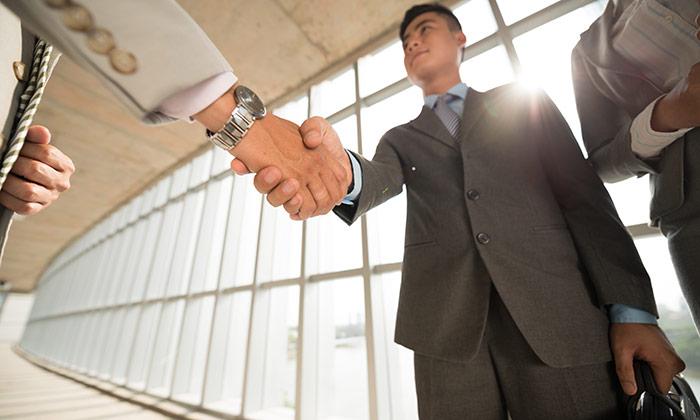 Asian handshake Singapore