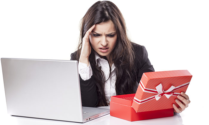 Christmas gift disliked business woman