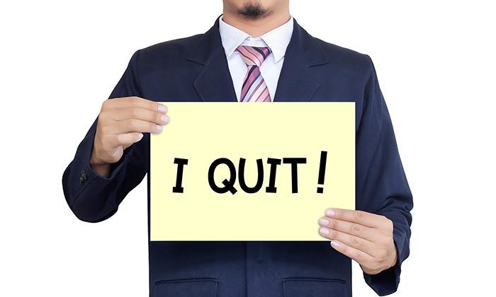 I quit sign