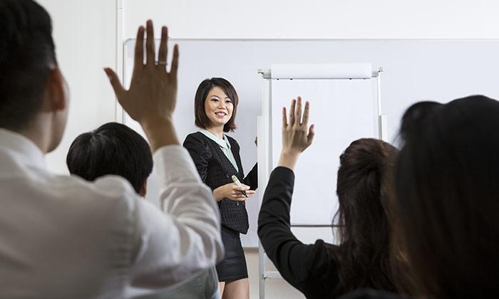 Chinese employees training