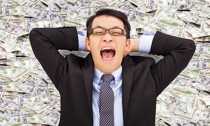 Hong Kong businessman happy money