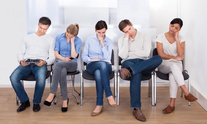 people sleeping in the waiting room