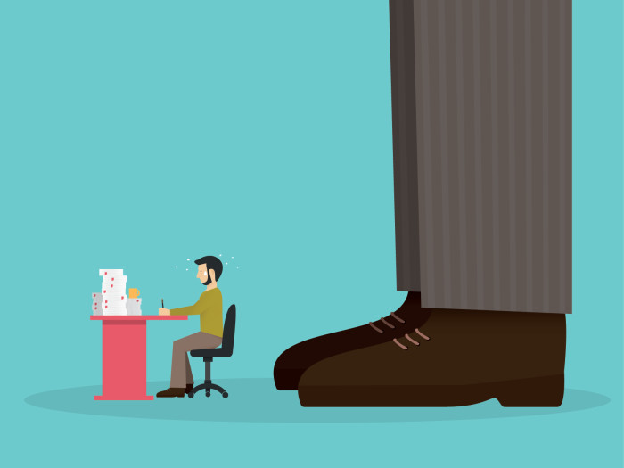 Bad boss putting pressure on employee - personal growth by Aditi for HRSG July 2015