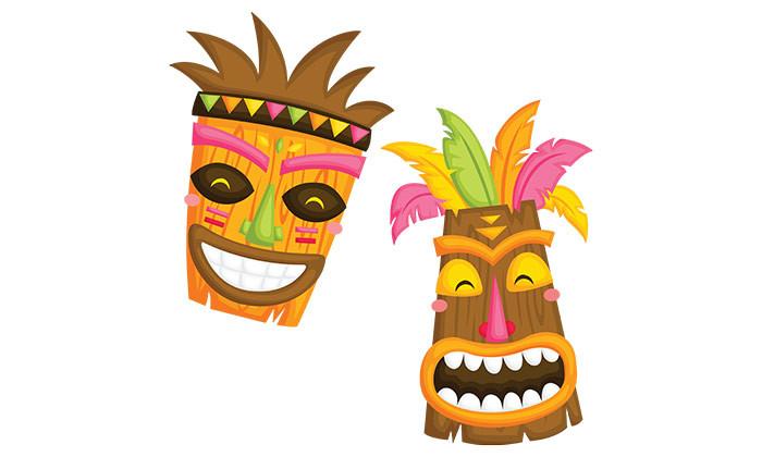 happy Tiki mask