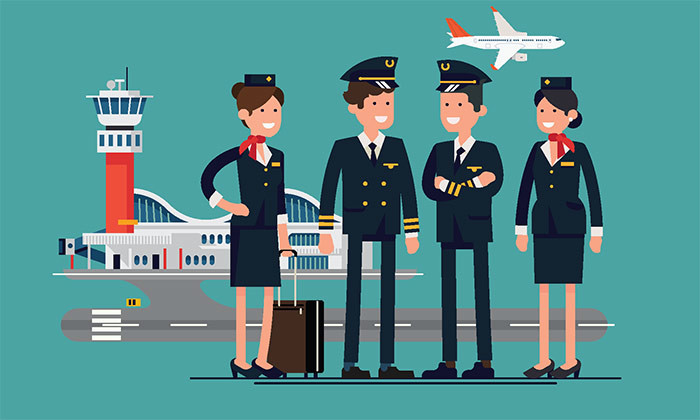 airline service crew