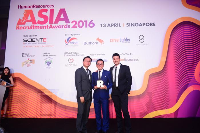 Winners and photos: Asia Recruitment Awards 2016, Singapore