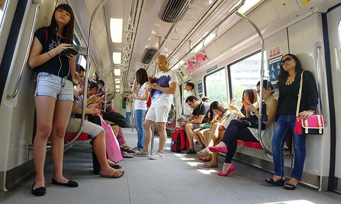 Singapore's MRT network featuring Millennials