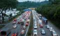 Malaysia traffic in the evening