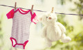 Baby clothes on a clothes line, hr