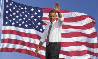 Barack Obama waving, hr