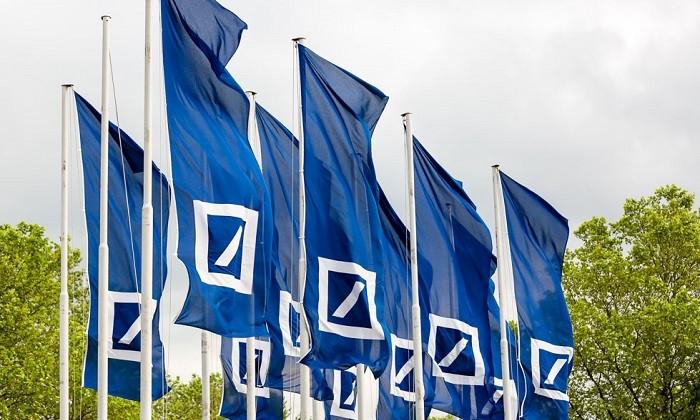 Deutsche Bank flags, hr