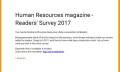 HR magazine survey