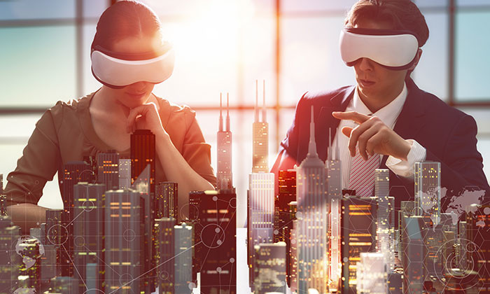 Future of work represented by virtual reality