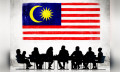 Malaysia flag with business people